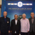 Founding Patrons GEN (Ret'd) Hashim Mohd Ali, MG (Ret'd) Pehin Dato Haji Mohammad Haji Daud, LG (Ret'd) Winston Choo and Former Vice President Try Sutrisno