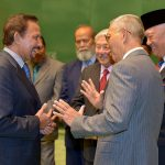 His Majesty, the Sultan of Brunei sharing al light-hearted moment with the delegation