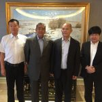 From L to R: Mr Chen Tao, Secretary-General of Guangdong GAIFC, General (Ret'd) Tan Sri Dato' Sri Suleiman Mahmud and Mr Zhao Haiming, Vice-President of GAIFC