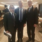 Mr. Shaw Wang (CAIFC) with ADM (Ret'd) Bill Owens (EWI) and Amb. (Ret'd) Cameron Munter (EWI)